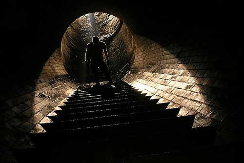 This shot in a London Storm Relief Sewer, nicknamed the Labyrinth, is truly cinematic.